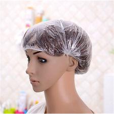 Shower Bathing Elastic Cap 100Pcs Disposable Clear Spa Hair Cap Salon Hotel Home