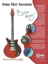 Queen Brian May Burns Signature Guitar 2002 Promo Poster Ad