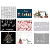 Removable Christmas Wall Stickers Showcase Window Glass Sticker Home Xmas Decor