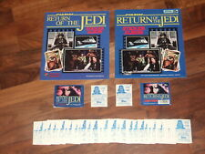 Star Wars The Return of The Jedi 1983 Panini Complete,Empty Albums,Sticker Set &