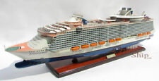 "MS Harmony of the Seas Ocean Cruise Liner Wooden Ship Model 36"" Scale 1:400"