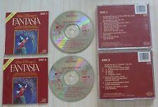 LOT 2 CD ALBUM WALT DISNEY FANTASIA MUSIQUE DE FILM 2 DISC SET SOUNDTRACK