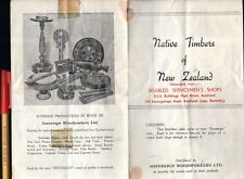 ANZAC New Zealand Disabled Servicemen's Shops NATIVE TIMBERS 8-side Brochure