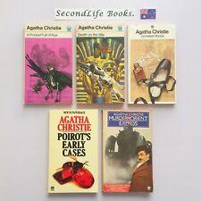x5 AGATHA CHRISTIE BOOK Lot ~ Rye Death House Poirot Murder Orient.