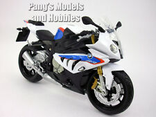 BMW S1000RR 1/12 Scale Diecast Metal Model Motorcycle by Automaxx - White/Blue