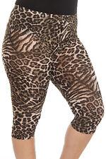 Size 3X Women's Leopard  Capri Length  Animal Printed  Leggings