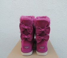 UGG MEILANI LONELY HEARTS BAILEY SUEDE BOW SHEEPSKIN BOOTS, US 8/ EUR 39 ~NIB