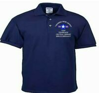 TEMPELHOF CENTRAL AIRPORT * GERMANY *USAF*EMBROIDERED LIGHTWEIGHT POLO SHIRT