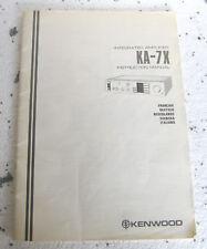 KENWOOD KA-7X - Manuale di Istruzioni - Manuel d'instruction