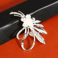Silver Plated Brooch Pin Hs Women Beautiful Flower Shaped Floral