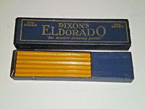 Vtg DIXON CRUCIBLE Eldorado Master Drawing Pencils HB One Dozen NEW in Box