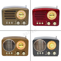 Portable Vintage Retro Radio AM FM SW bluetooth Speaker & TF Card Slot USB Charg