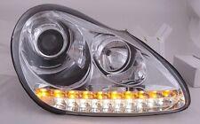 Porsche Cayenne 955  CHROME LED DRL Projector Headlights  NEW