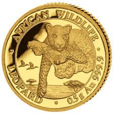 Somalie Afrika Faune Léopard 20 Shilling 999.9 or Pièce en 2020 0,5 Taille. Pp