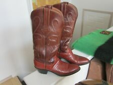 Lucchese Western Boots Size 6.5 B Ladies Brown/Tan Excellent Pre-Owned Condition