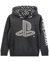 PlayStation Logo Hoodie Boy's Gamer Hooded Long Sleeve Kids Charcoal Sweatshirt
