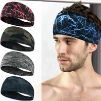 Unisex Women Men Stretch Headband Sport Sweat Sweatband Yoga Gym Hair Head Band