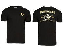 New! True Religion Brand Jeans Men's Gold Buddha Logo Horseshoe Tee T- Shirt