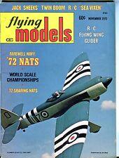 Flying Models Magazine November 1972 Al Rabe Sea Fury VG No ML 041417nonjhe