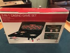 """3-In-1"" Casino Game Set - Blackjack Roulette Craps All In A 22"" Carrying Case"