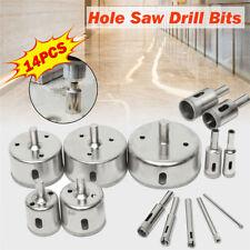 14pcs 3-70mm Diamond Hole Saw Tile Ceramic Glass Porcelain Marble Drill Bits Set