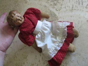 Antique German Tin Head, stuffed cloth doll