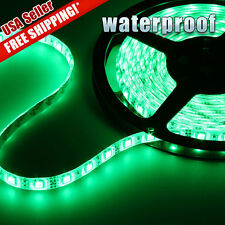 Waterproof 5M 300LED 2835 SMD Green Flexible Strip Light Car Boat Decor Lamp Bar