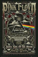 Pink Floyd Rainbow Theatre Poster mehrfarbig