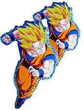 "2X 5.5"" Goku Super Saiyan 2 Dragon Ball Z DBZ Laptop PS XBOX Decal Foil Sticker"