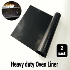 2 x Universal Oven Cooker Replacement Teflon Non Stick Oven Liner Cooking Mat