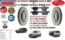 FOR VOLVO XC90 2.4 2.5 3.0 3.2 4.4 2002- FRONT BRAKE DISCS SET + BRAKE PADS KIT