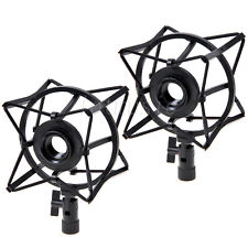 2* Spider Shock Mount Condenser Microphone Holder to avoid Vibrations Black