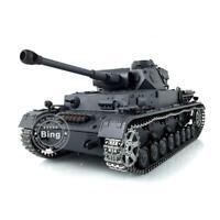 6.0 Upgraded German Panzer IV F2 Metal Tracks 1/16 Henglong RTR RC Tank 3859
