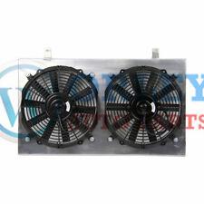 FOR NISSAN SKYLINE S13 CA18 R32 RB20 GTR GTS RADIATOR FAN SHROUD and 2X12''FANS