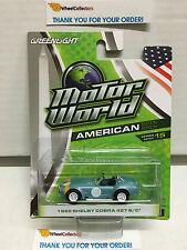 Greenlight * 1965 Shelby Cobra 427 S/C * Light Blue * Motor World Series 15