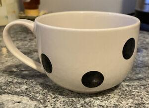Kate Spade Lenox White with Black Polka Dot Mug Cup Coffee Tea Deco - 1 Mug
