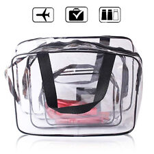 Waterproof Plastic Travel Toiletry Organizer Cases Bag (Small Medium Large Size)
