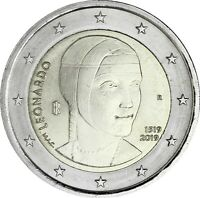 Italien 2 Euro 2019 Leonardo da Vinci Gedenkmünze bankfrisch