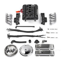 V8 Simulate Engine Motor Cooling Fan for 1/10 TRX4 SCX10 RC4WD D90 RC Car