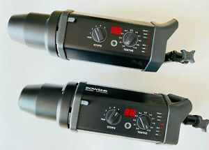 2 Bowens flash heads GM750PRO with Bowens Pulsar Radio Triggers & Cables