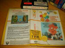 Betamax *TUBBY THE TUBA* 1977 Pre Cert RARE 1984 Australian Vestron - 1st Issue!