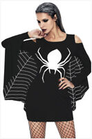 Spiderweb Plus Size Jersey Tunic Mini Dress Halloween Day Party Adults Costume