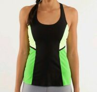 Lululemon 2 Cool Racerback Surf Bonded Black Faded Zap Frond Neon CRB