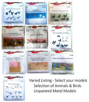 LANGLEY MODELS ANIMALS/ WILD LIFE/ BIRDS [OO Gauge] various options unpainted