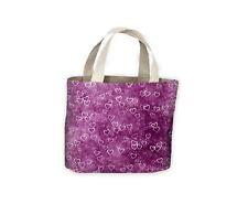 Corazones púrpura Bolso Compras Bolso para toda la vida