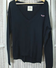 "HOLLISTER Light Cotton Blend V-Neck Jumper Thin Knit Sweater Men's S 38"" Unisex"