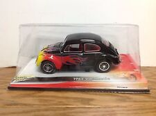 Johnny Lightning 1963 VW Beetle Black with Flames 1:18 Scale