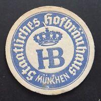 Ancien sous-bock bière épais STAATLICHES HOFBRAUHAUS MUNCHEN bier Bierdeckel 6