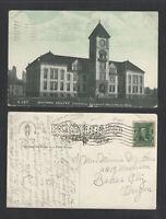 1908 WHITMAN COLLEGE MEMORIAL BUILDING WALLA WALLA WASH WASHINGTON POSTCARD