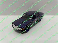 HOT WHEELS MERCEDES-BENZ 380 SEL PURPLE REAL RIDERS EURO LOOSE DIORAMA VHTF
